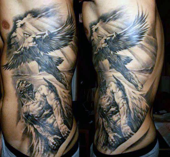 incredible angels side tattoo