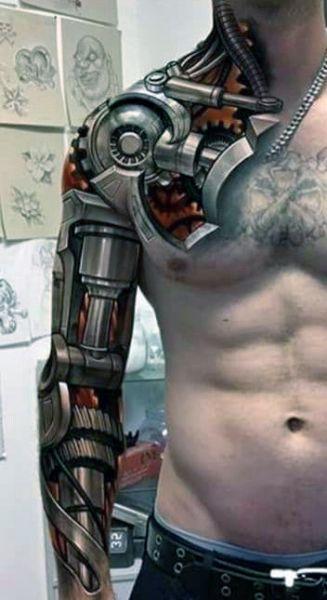 Tatuaże Męskie Biomechanika