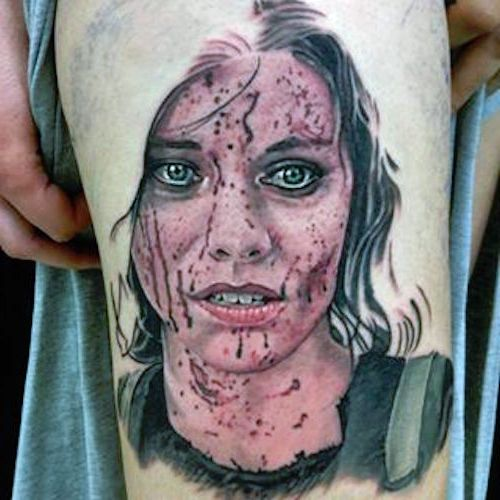 realistic tattoo face