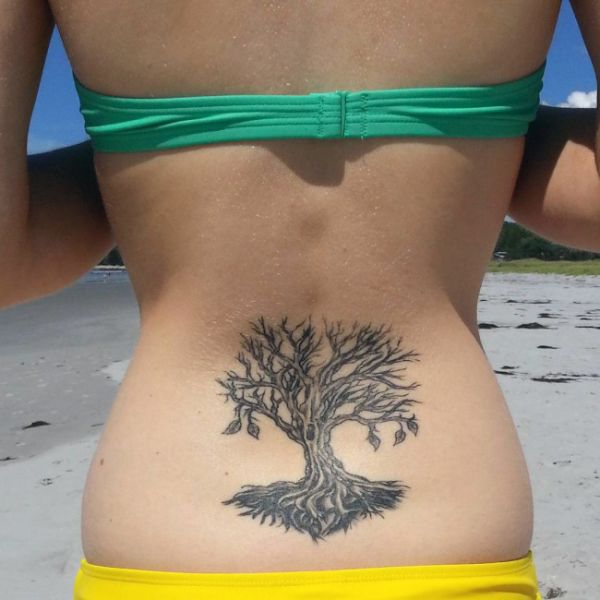 lower back tattoo tree