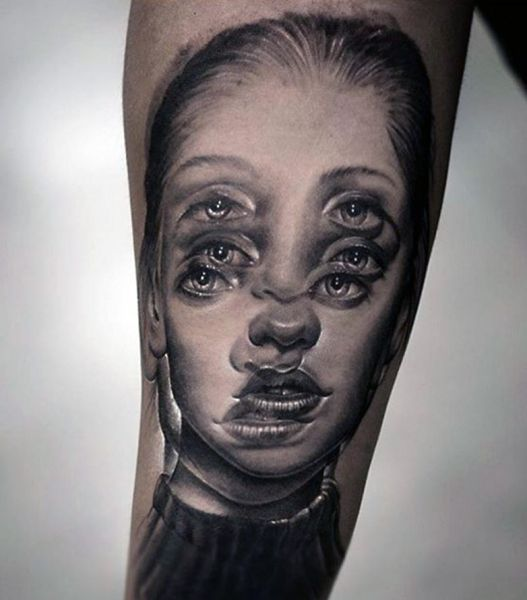 illusion tattoo face