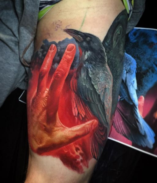 amaizing crow tattoo