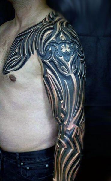 man tattoo 3d arm