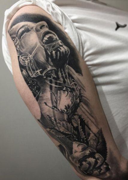 vampire arm tattoo
