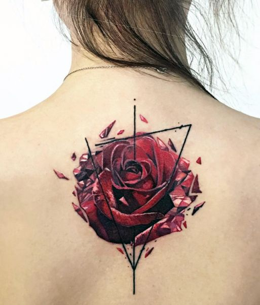 rose art tattoo