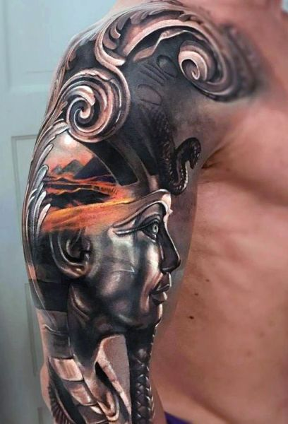 pharaoh 3d tattoo