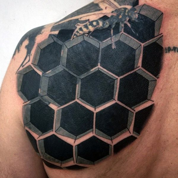 honeycomb and been tattoo