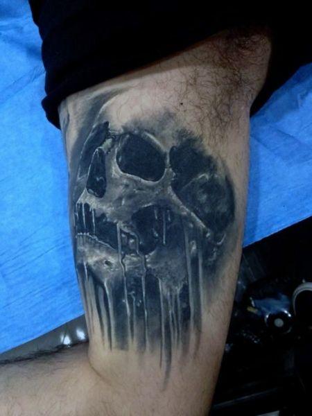 3d amazing skull tattoo