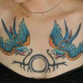 ptaki na piersi