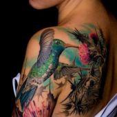 piękny koliber tatuaż