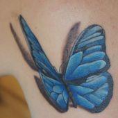 niebieski motyl 3d