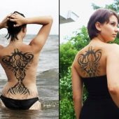 seksowny tribal na plecach