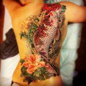 beautiful koi fish tattoo