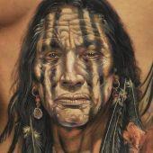 tatuaż indianina