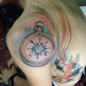 kompas na ramieniu