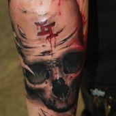 skull tattoo 3D