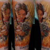 tatuaż indianki