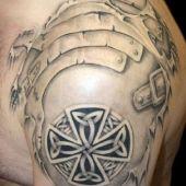 celtycki tatuaż 3d