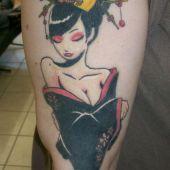 sexy geisha tattoo