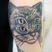 illusion cat tattoo