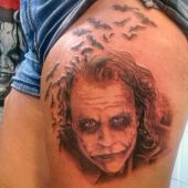joker thigh tattoo