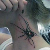amazing spider tattoo 3d