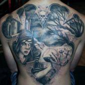 tatuaże męskie wampirzyca