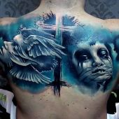 tatuaże męskie na plecy
