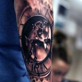 tatuaże 3d zegar