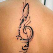 tatuaże dla dziewczyn muzyczny