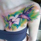 tatuaże damskie kolibry