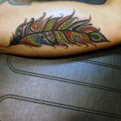 piękny tatuaż pióro