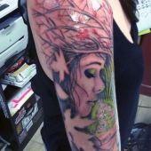tatuaże damskie twarz kobiety