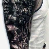 tatuaże męskie 3d wojownik