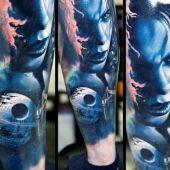 tatuaże 3d głowa kobiety