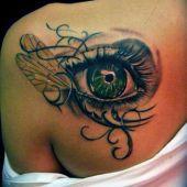 tatuaże damskie oko 3d
