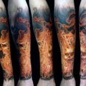 incredible fire tattoo