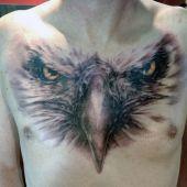 tatuaże męskie na piersi 3d