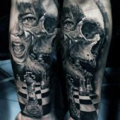 3d man forearm tattoo