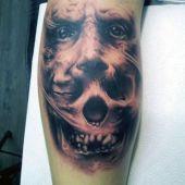 3d tattoo skull