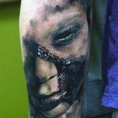 tatuaże 3d  na przedramieniu