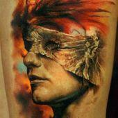 tatuaże 3d ślepiec