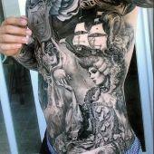 man full body tattoo