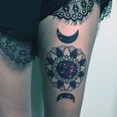 tattoos for women on thigh