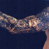 biomechanical tattoo for man