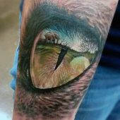 realistic eye 3d tattoo