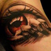 incredible eye 3d tattoo