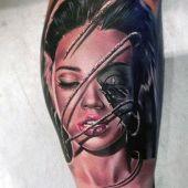 tatuaże 3d kobieca twarz