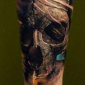 amazing tattoo skull 3d