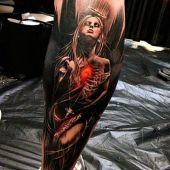 black angel 3d tattoo